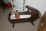 Old Antique Dovetailed Bassinet or Cradle