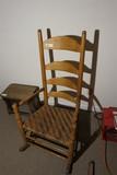 Antique Ladder Back Rocking Chair