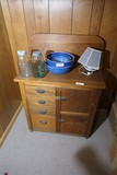 Antique Cabinet With Punched Tin