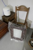 Chair, mirror, bench lot of old furniture