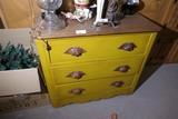 Antique Dresser in Mustard Paint