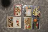 Group Lot Antique Halloween Postcards