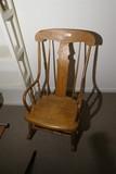 Antique Empire Period Rocking Chair