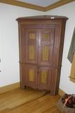Fine Antique Corner Cabinet Cupboard w/Old Paint