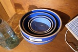 Nesting Group of Old Blue Mixing Bowls