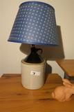 Antique Stoneware Jug Lamp