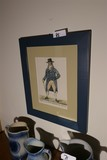 Antique Framed Etching Of a Man