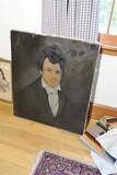 19th c. Antique Painting portrait of a man