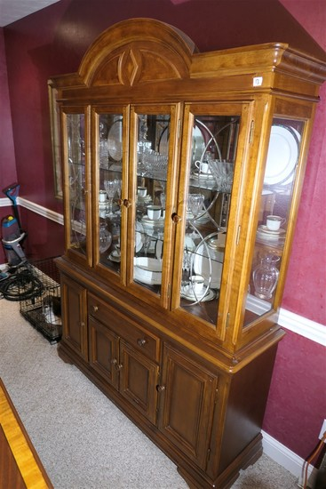 Vintage Alexander Julian China Cabinet Cupboard