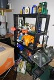 Plastic Storage Shelf, Contents, Items in front