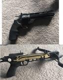Revolver air gun + Crossbow