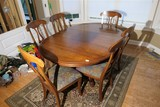 Vintage Wooden Table plus 6 Chairs