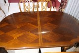 8 Chairs and Vintage Dining Room Table