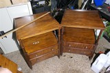 Pair of Ethan Allen End or Lamp Tables + Small Table