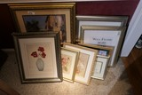 Group Lot Assorted Framed Art Pieces