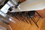 4 Metal Counter Bar Chairs