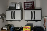2 Plastic wall mounted storage cabinets