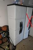 ONE plastic storage cabinet + contents
