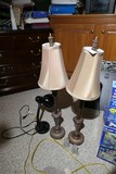Group Lot of 3 Lamps