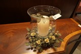 Candle and Surround Table Centerpiece
