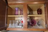 Cupboard Lot assorted Glass Inc. Ruby