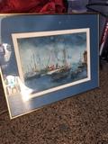 Vintage Framed Art piece