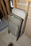 Group Lot of 4 Folding Chairs
