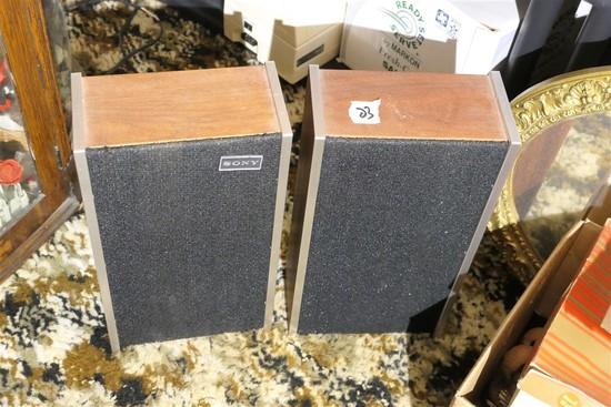Pair of vintage Sony speakers