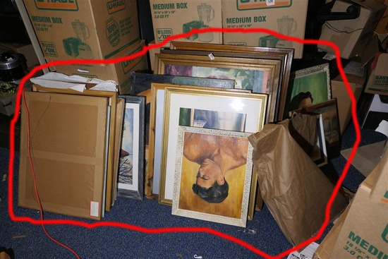 Very large lot nice oil on canvas paintings etc