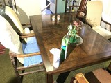 Vintage table & 3 chairs + one leaf