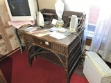 Unusual Antique Wicker Desk