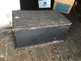 Antique Blanket Chest or Tool Box w/Old paint