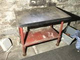 Antique Industrial Kitchen Prep Table All Metal