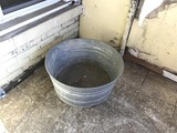 Vintage Large Galvanized Tub or basin
