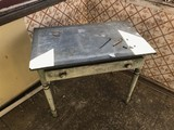 Early Antique 19th c desk w/tin top