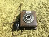 Antique Duplex Wall Mounted Telephone - Rare wood