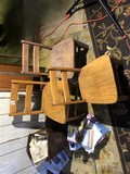 Group Lot 3 Oak Child's Chairs