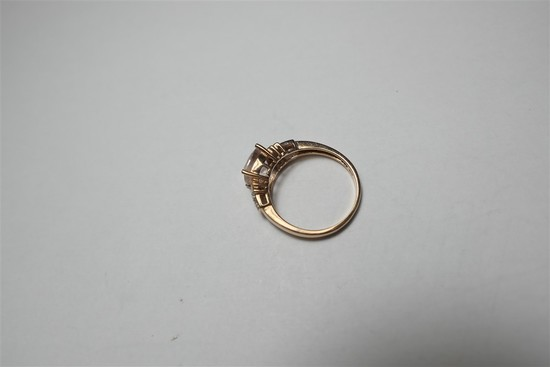 14k gold, diamond and gem set ring