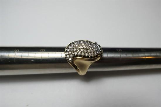 Brilliant 14k gold diamond cocktail ring