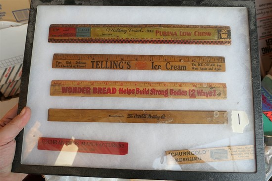 Group lot antique advertising rulers