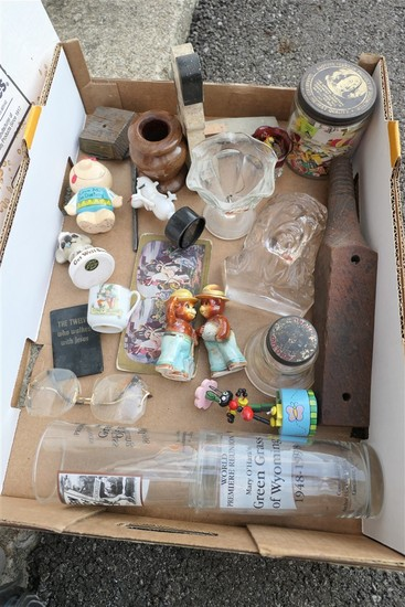Box of Vintage Collectibles, toys