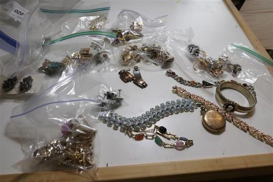 Pocket Watch, Group Lot Costume Jewelry