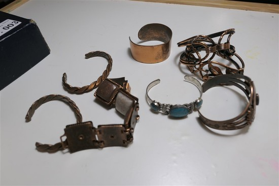 Group lot of Native American Copper Jewelry