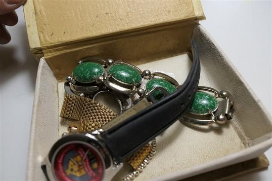 Vintage bracelets, Ohio State watch etc