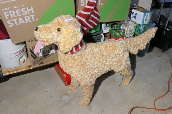 Life sized light up dog Christmas decoration