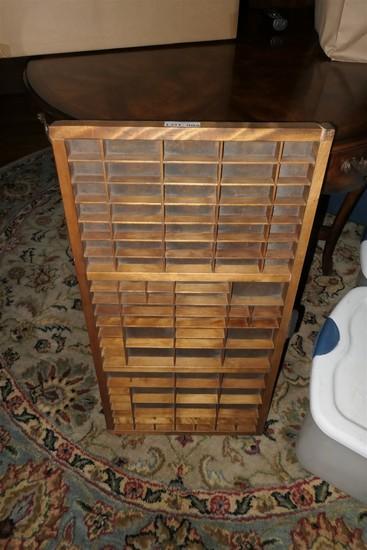 Antique Hamilton print block cabinet drawer