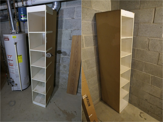 2 tall wooden storage cabinets