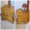 Pair of Cayton furniture oak nightstands