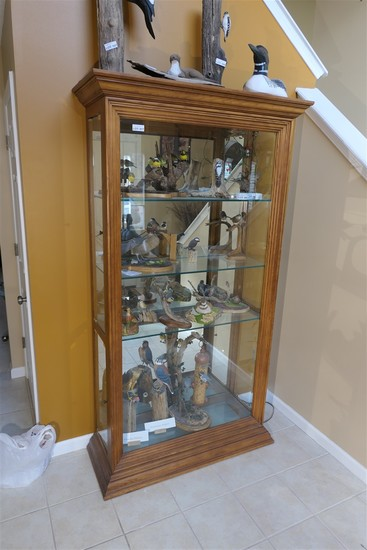 Large sized wooden display cabinet