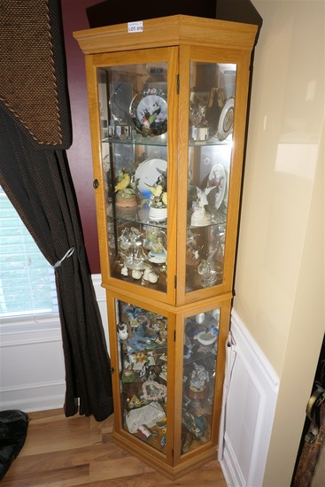 Wooden curio cabinet